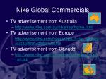 nike global commercials