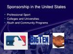 sponsorship in the united states