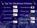 top ten wealthiest athletes