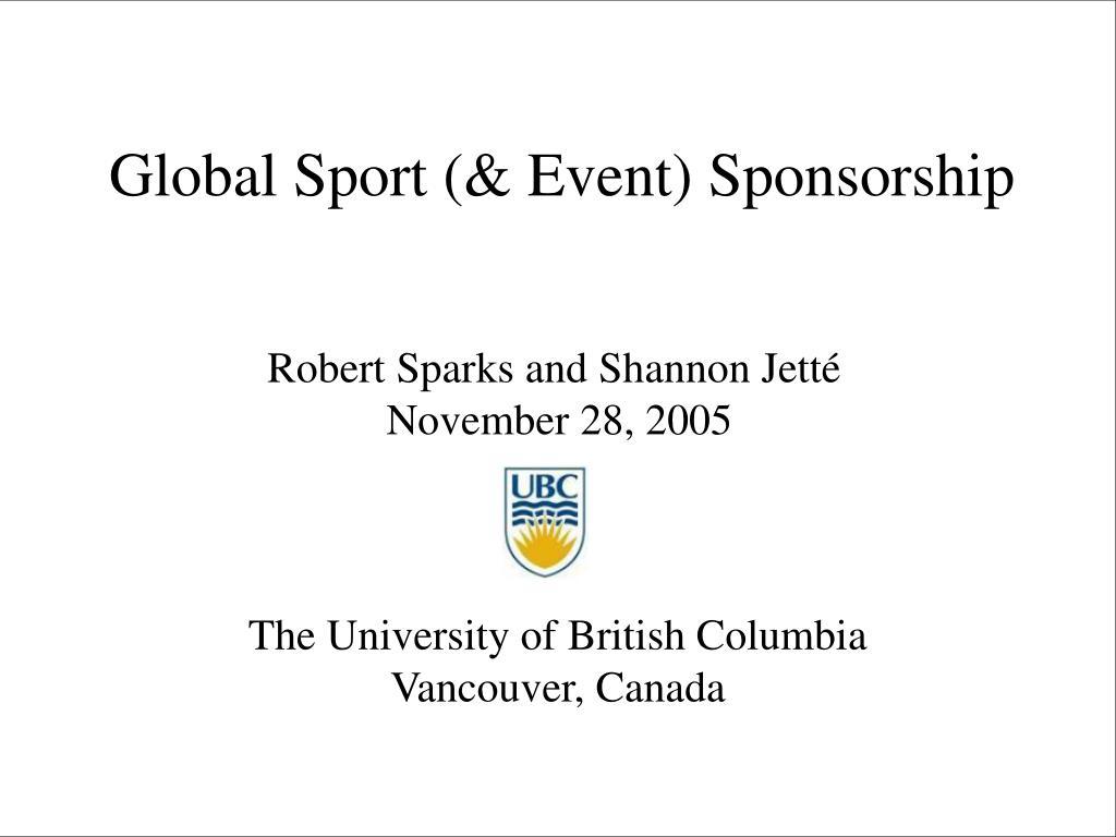 global sport event sponsorship l.
