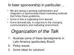 in beer sponsorship in particular