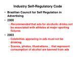 industry self regulatory code