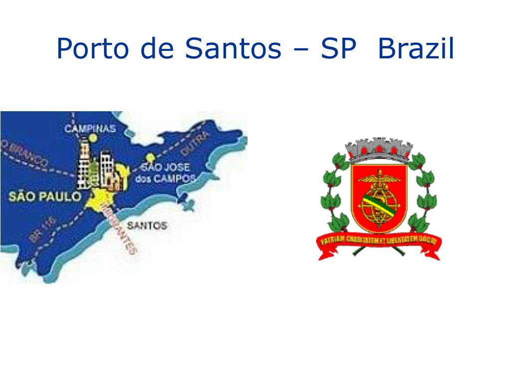 porto de santos sp brazil l.