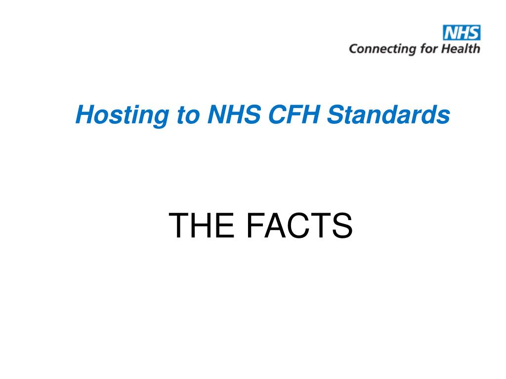 hosting to nhs cfh standards l.