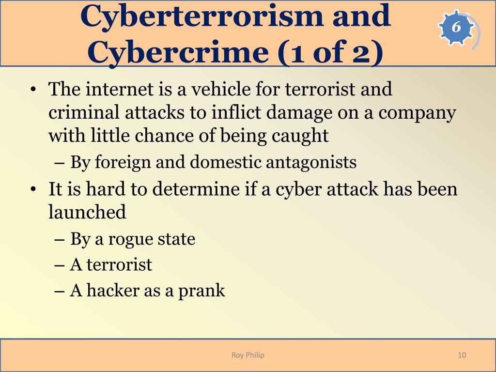 Cyberterrorism and Cybercrime (1 of 2)
