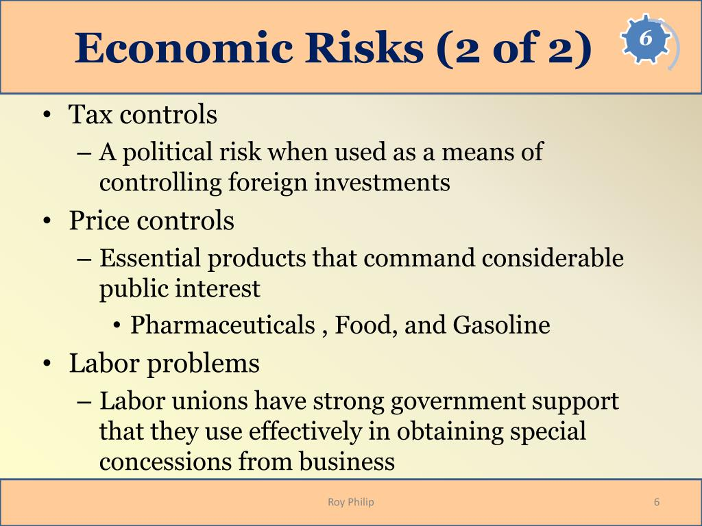 Economic Risks (2 of 2)