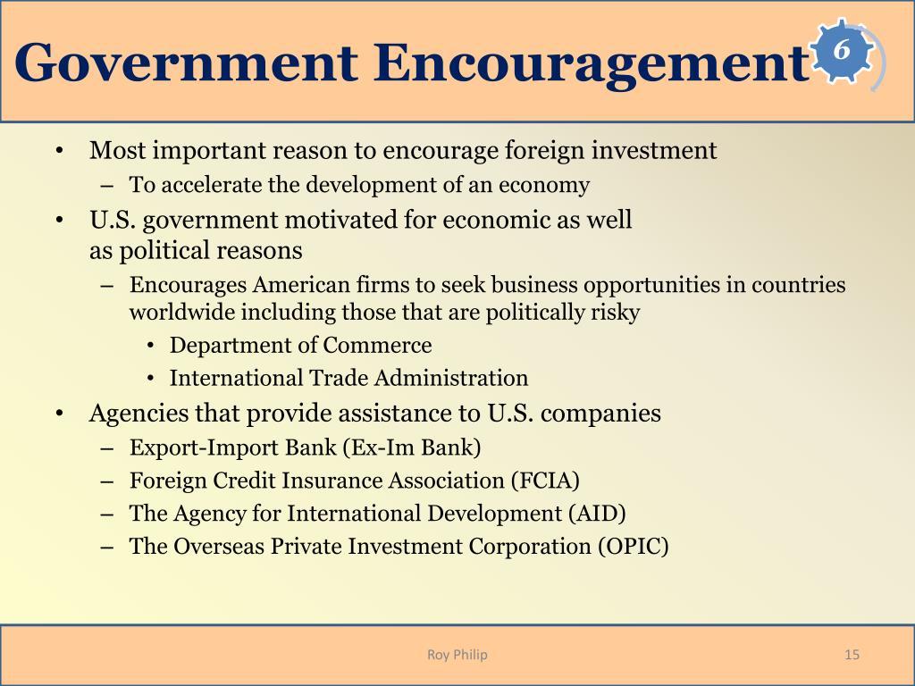 Government Encouragement