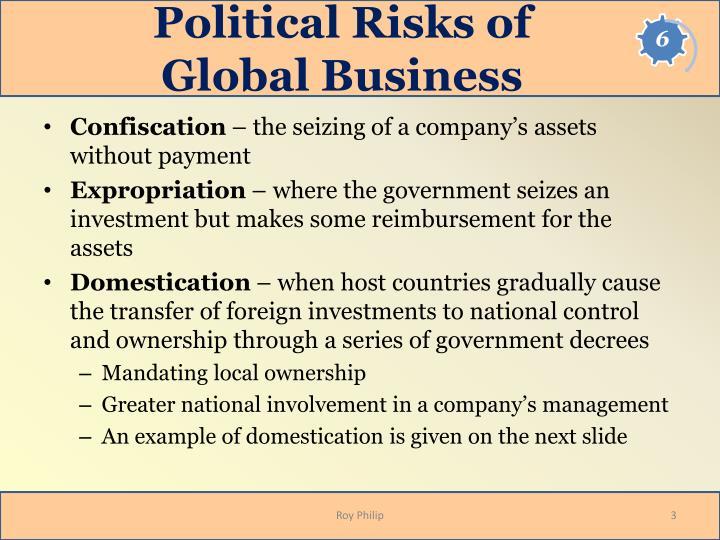 Political risks of global business