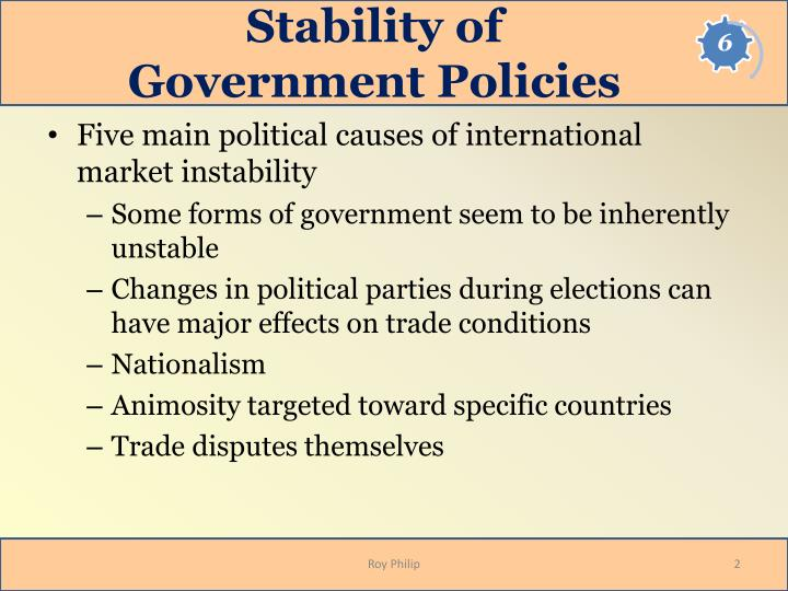 Stability of government policies