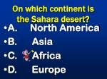 on which continent is the sahara desert