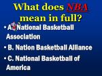 what does nba mean in full
