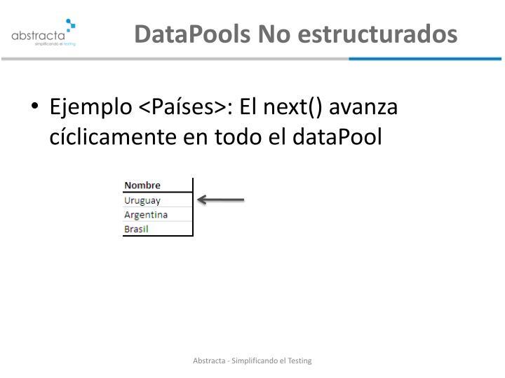 Datapools no estructurados