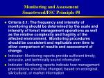 monitoring and assessment smartwood fsc principle 8