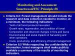 monitoring and assessment smartwood fsc principle 841
