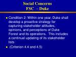 social concerns fsc duke