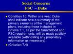 social concerns fsc duke31