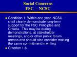 social concerns fsc ncsu