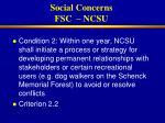 social concerns fsc ncsu28
