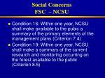 social concerns fsc ncsu29