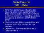 social concerns sfi duke