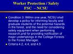 worker protection safety fsc ncsu
