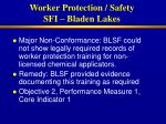 worker protection safety sfi bladen lakes