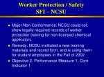 worker protection safety sfi ncsu