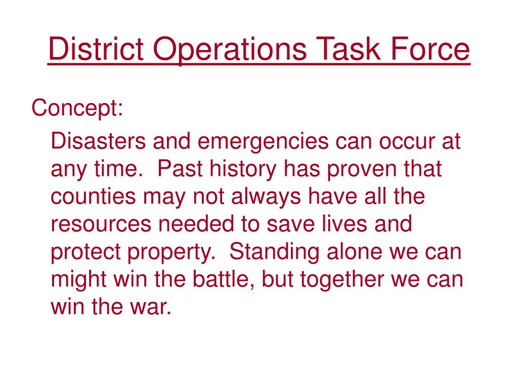 District Operations Task Force