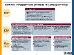 rbm hwp 08 objectives re emphasize rbm strategic priorities