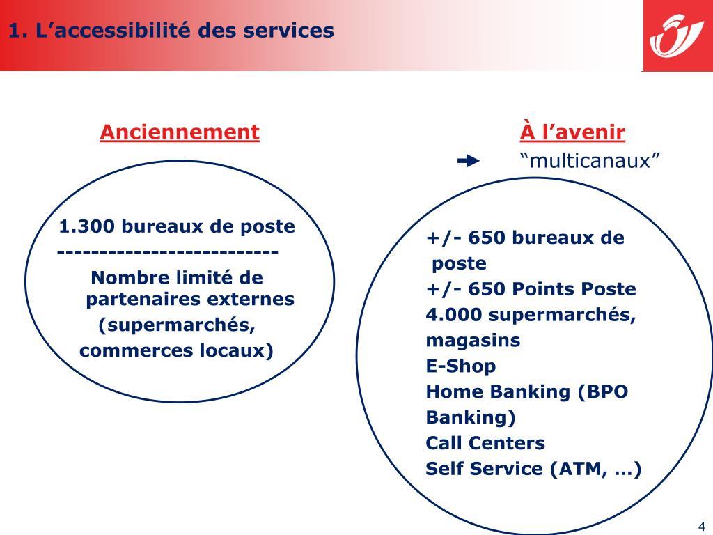 1. L'accessibilité des services