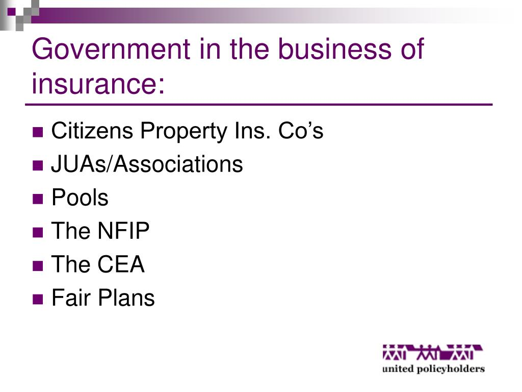 Government in the business of insurance: