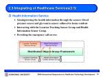 2 3 integrating of healthcare services 2 3