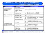 3 1 execution conditions of application simulator for healthcare home service