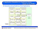 3 application simulation for healthcare home based on the fshis