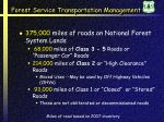 forest service transportation management