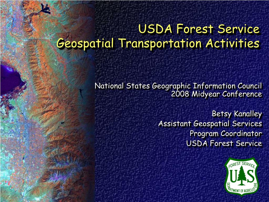 usda forest service geospatial transportation activities l.