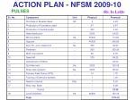 action plan nfsm 2009 1021