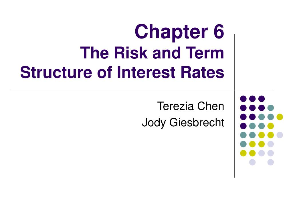 chapter 6 the risk and term structure of interest rates