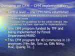 overview on cfm cfm implementation