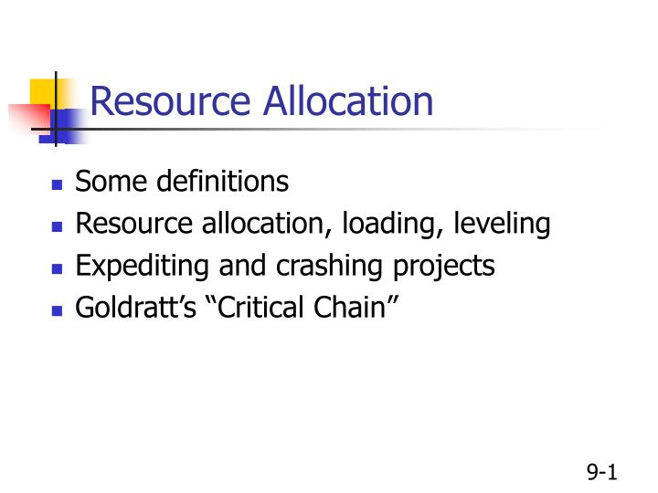 project planning cost and resource allocation