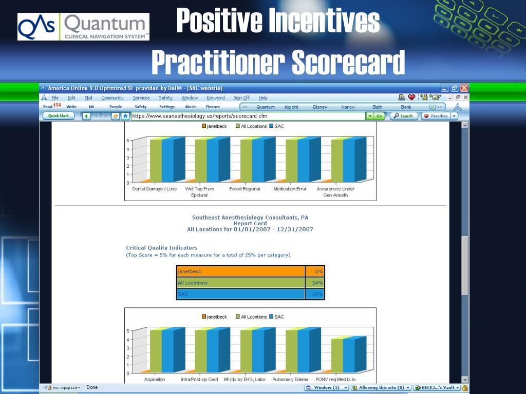 Positive Incentives