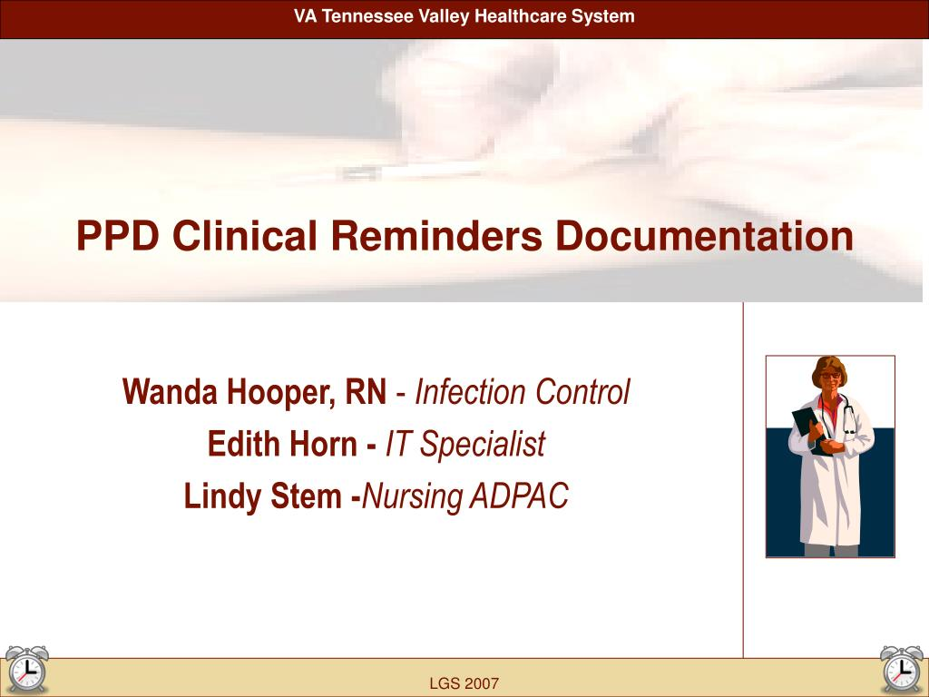 PPT - PPD Clinical Reminders Documentation PowerPoint