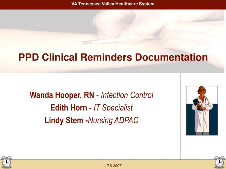 ppd clinical reminders documentation n.