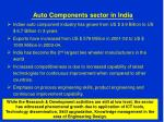 auto components sector in india