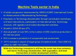 machine tools sector in india