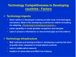 technology competitiveness in developing countries factors8