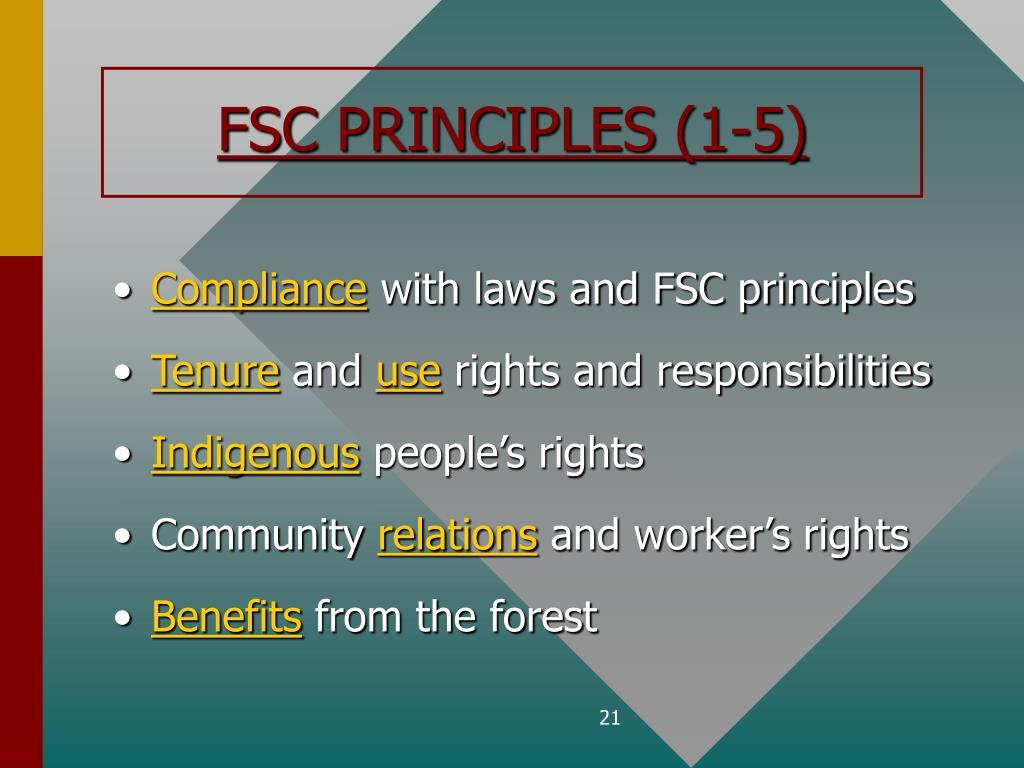 FSC PRINCIPLES (1-5)