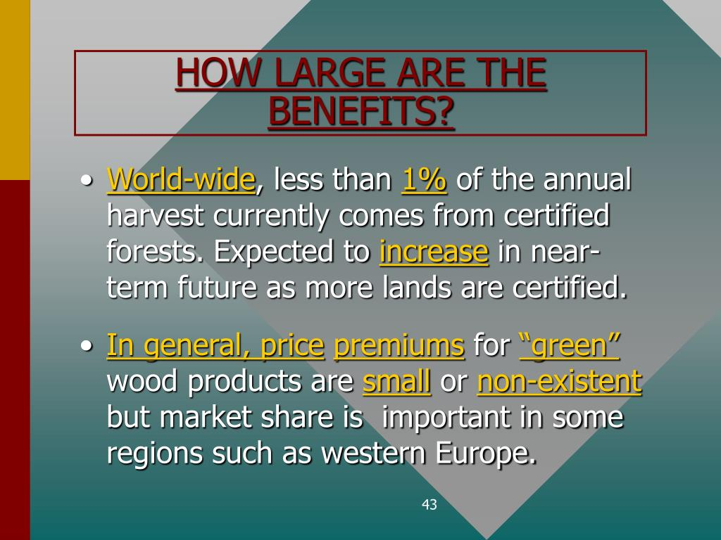 HOW LARGE ARE THE BENEFITS?