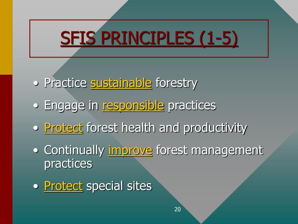 SFIS PRINCIPLES (1-5)