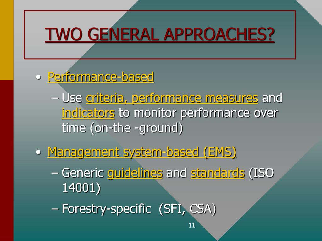 TWO GENERAL APPROACHES?